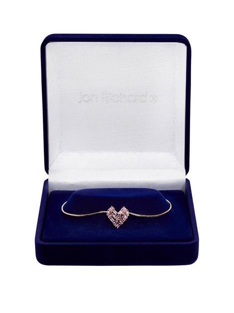 jon-richard-jon-richard-rose-gold-plate-cubic-zirconia-mixed-stone-heart-toggle-bracelet