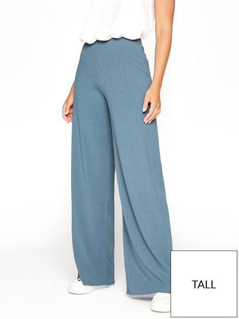 long-tall-sally-ribbed-wide-leg-trouser