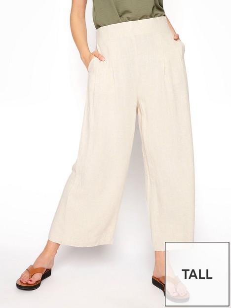 long-tall-sally-long-tall-sally-linen-mix-shirred-crop-trousers