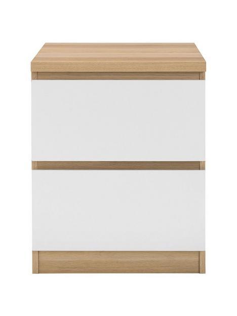 julian-bowen-jupiter-2-drawer-bedside-oak-white