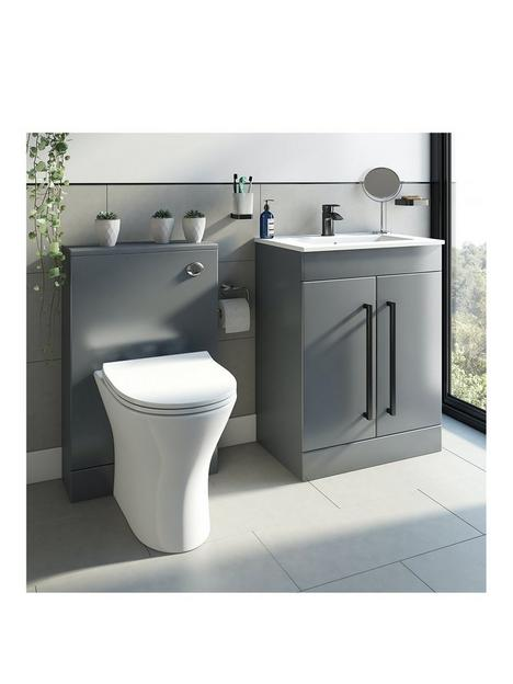 victoria-plum-grey-with-black-handle-vanity-unit-600mm-with-backnbspto-wall-toilet-and-unit