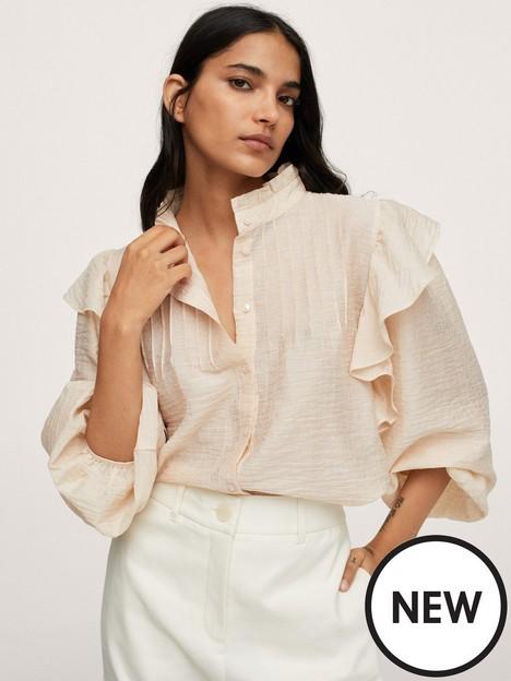 mango-frill-blouse-ecru
