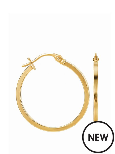 love-gold-9ct-yellow-gold-plain-square-tube-hoop-earrings-22mm