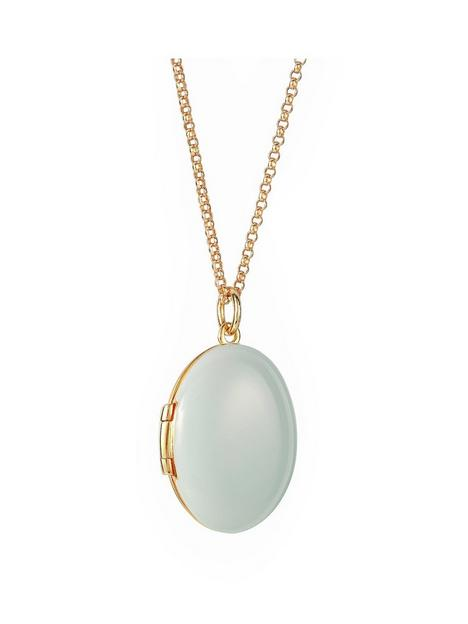the-love-silver-collection-sterling-silver-gold-plated-light-blue-enamel-locket-182-rolo-chain