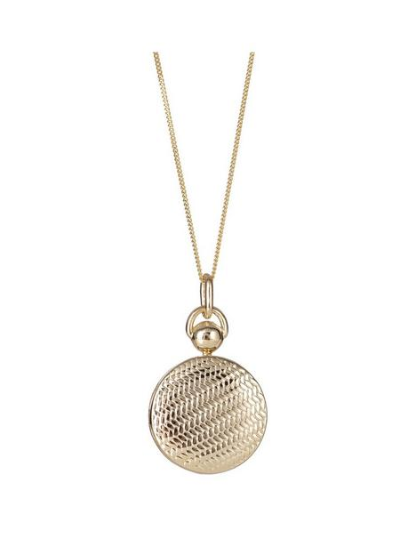 the-love-silver-collection-sterling-silver-gold-plated-textured-20mm-round-locket-pendant