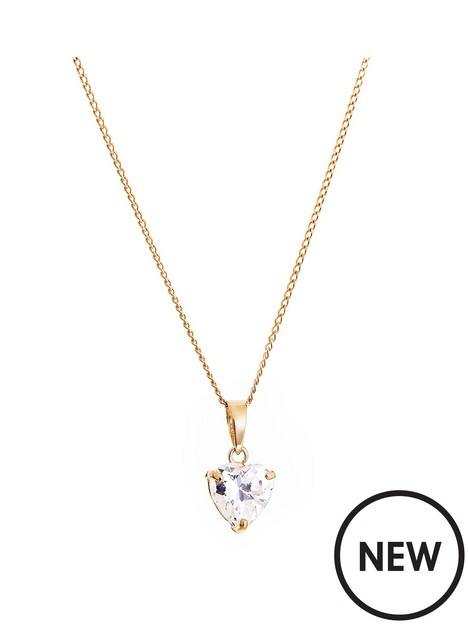 love-gold-9ct-yellow-gold-cubic-zirconia-solitaire-heart-pendant-necklace-18-inch-curb-chain