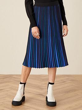 Monsoon Monsoon Ceirios Colour Block Pleated Skirt