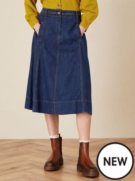 monsoon-a-line-denim-skirt