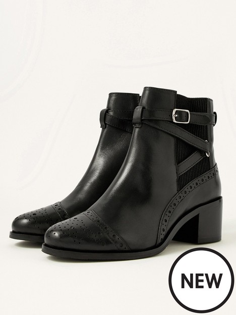 monsoon-monsoon-bethan-brogue-buckle-leather-ankle-boot
