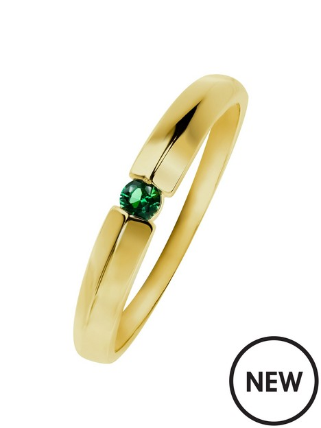 love-gold-9ct-yelow-gold-green-cubic-zirconia-band-ring