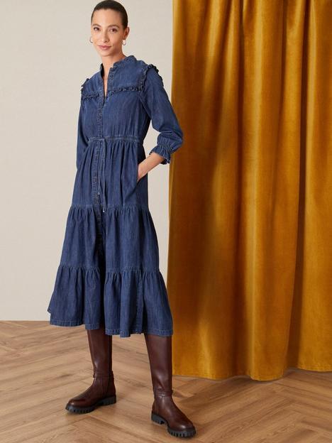 monsoon-tiered-denim-dress