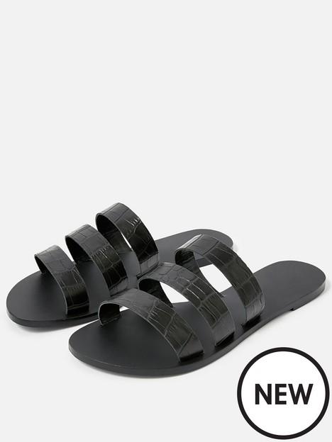 accessorize-triple-strap-croc-sandal