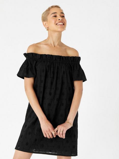 accessorize-schiffly-bardot-dress-black