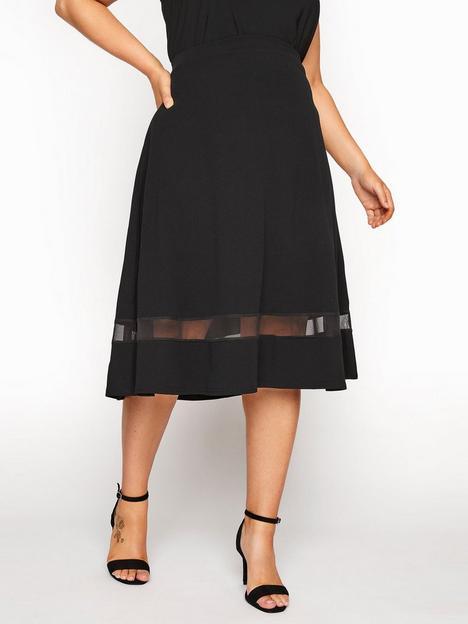 yours-clothing-mesh-panel-skater-skirt