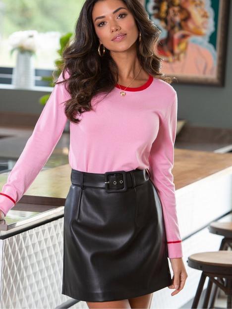 pour-moi-pour-moi-elise-faux-leather-belted-mini-skirt