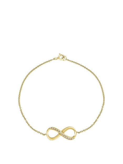 the-love-silver-collection-sterling-silver-gold-plated-cubic-zirconia-infinity-bracelet-75-inches