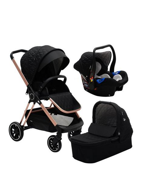 my-babiie-my-babiie-billie-faiers-rose-gold-black-quilted-travel-system