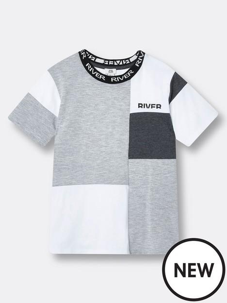 river-island-boys-colour-block-logo-tshirt-grey