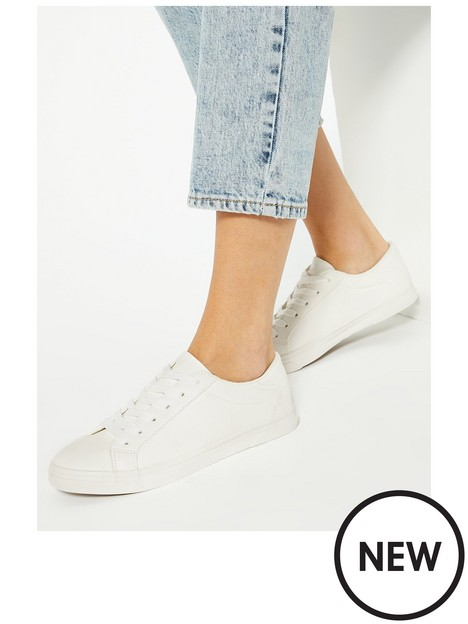 new-look-stitch-trim-lace-up-trainers-white