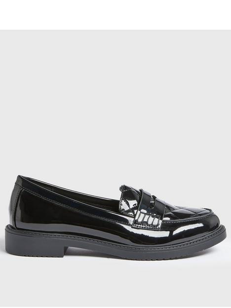 new-look-quilted-patent-loafers-black