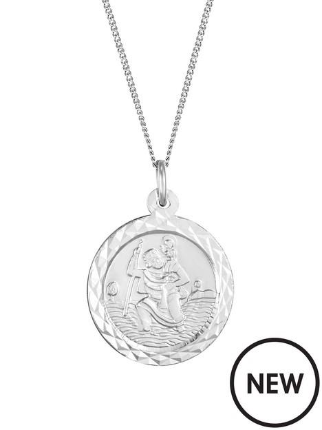 love-gold-9ct-white-gold-medium-st-christopher-pendant-necklace