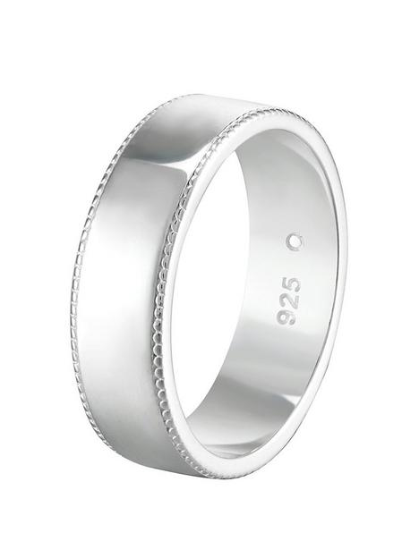 the-love-silver-collection-sterling-silver-milgrain-edge-6mm-court-wedding-band-ring