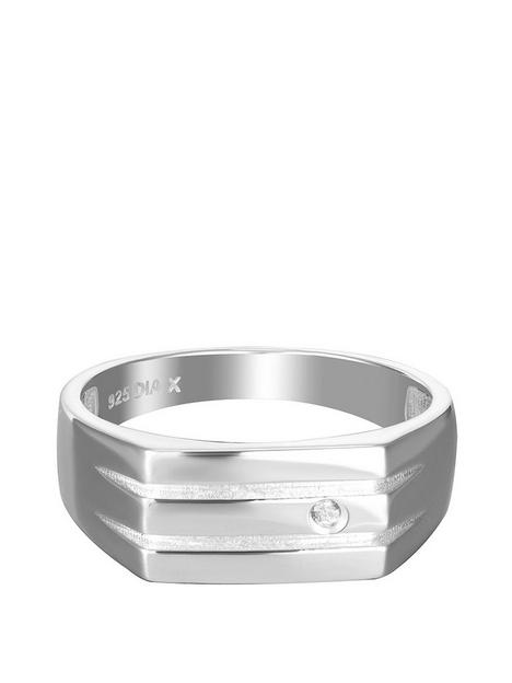the-love-silver-collection-gents-sterling-silver-and-diamond-signet-style-ring