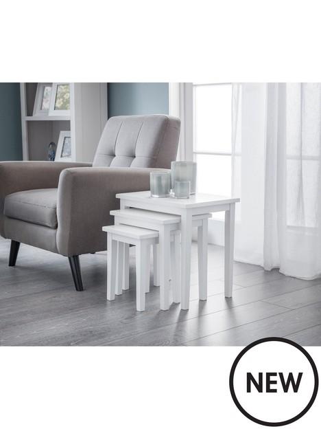 julian-bowen-cleo-nest-of-tables-pure-white-finish