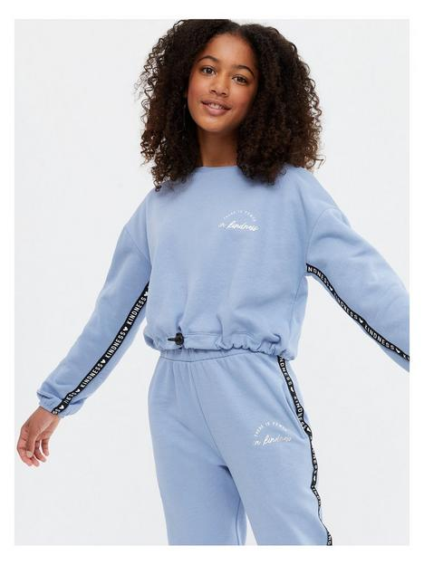 new-look-set-power-in-kindness-tape-slim-jogger
