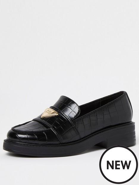 river-island-wide-fit-branded-loafer-black