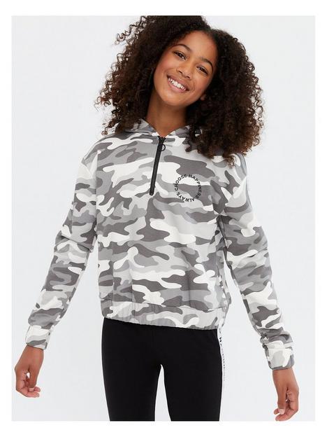 new-look-915-light-grey-camo-choose-happiness-logo-hoodie