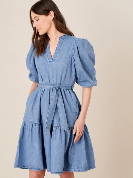 monsoon-denim-puff-sleeve-dress