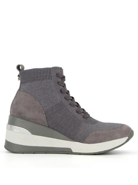 dune-london-enlicia-lace-up-flyknit-wedge-trainer-grey