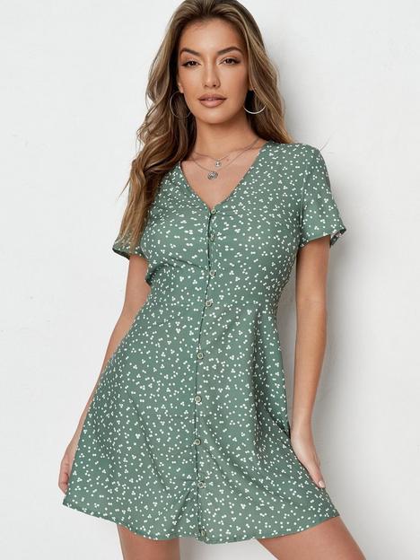 missguided-missguided-button-through-tea-dress-ss-polka-dot