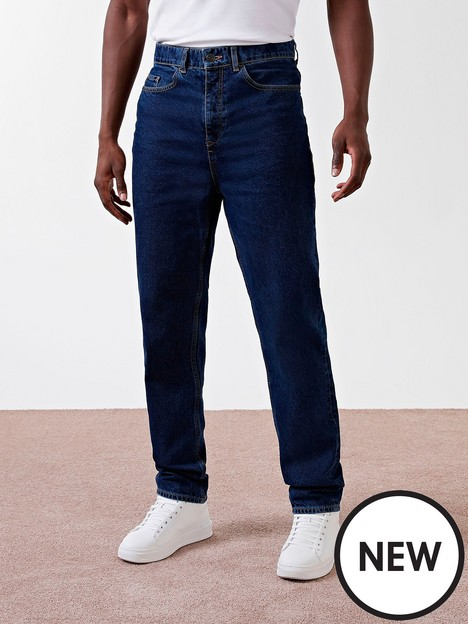 river-island-relaxed-fit-jeans-blue