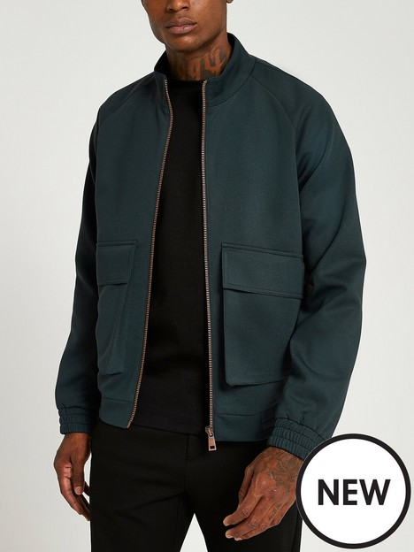 river-island-oversized-fit-bomber-jacket-dark-green