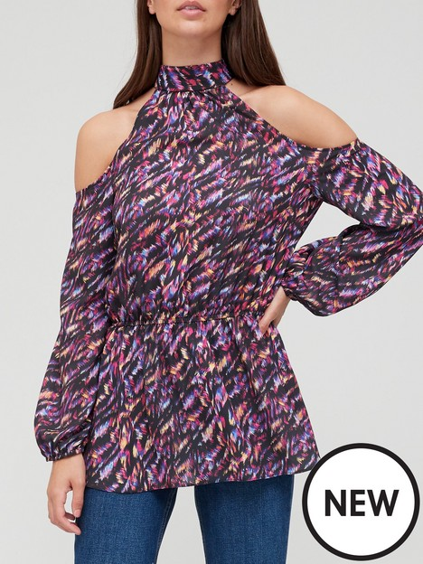 v-by-very-cold-shoulder-printed-peplum-blouse-multi