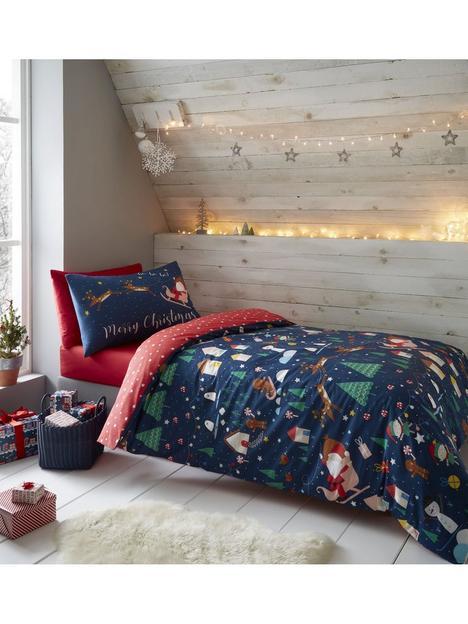 catherine-lansfield-santas-christmas-wonderland-glow-in-the-dark-single-duvet-covernbspset