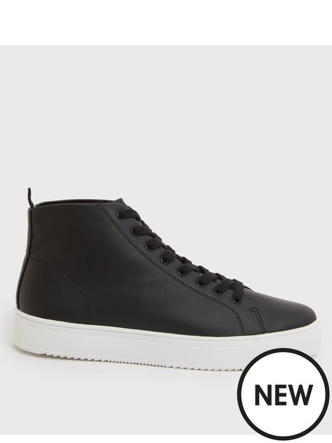 new-look-high-top-trainers-black
