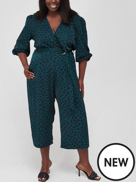ax-paris-curve-heart-culotte-jumpsuit-green
