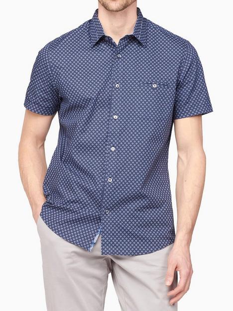 jeff-banks-short-sleeve-diamond-print-shirt-navy
