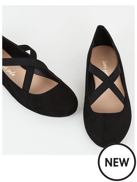 new-look-wide-fitnbspsuedette-cross-strap-pumps-black