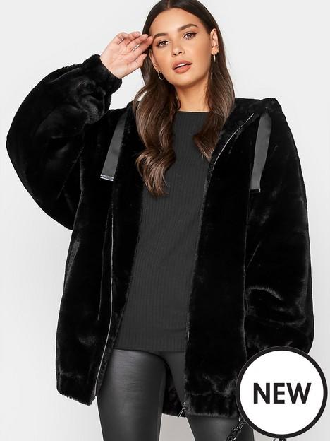 long-tall-sally-long-tall-sally-oversized-balloon-sleeve-fur-jacket-black