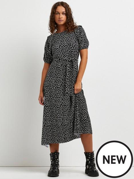 river-island-giraffe-plisse-tie-wait-midi-dress--black