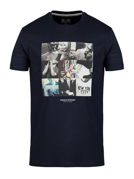 weekend-offender-printed-t-shirt-navynbsp