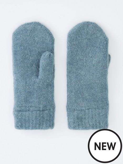 pieces-wool-blend-mittens-blue