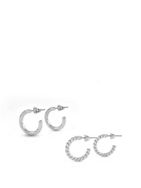 buckley-london-buckley-london-freya-hoop-duo-earrings-silver