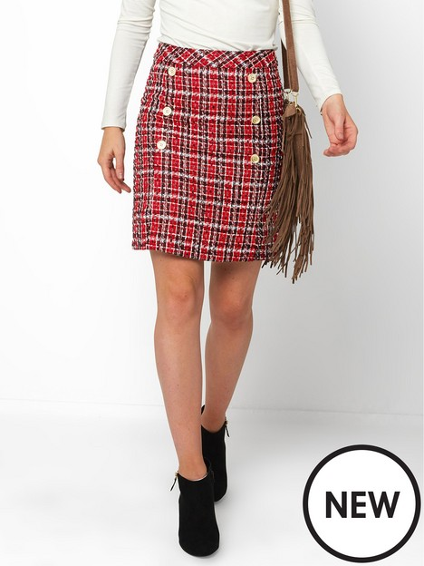 joe-browns-chic-check-skirt--red