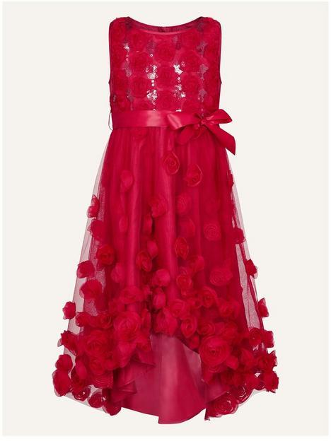 monsoon-girls-sequin-3d-hi-low-dress-red