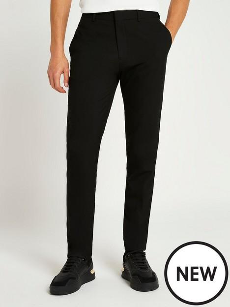 river-island-smart-slim-fit-trousers-black